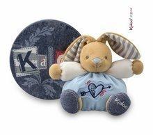 Iepuraş de pluş Blue Denim- Sweet Heart Kaloo 18 cm albastru în pachet de cadouri pentru cei mai mici copii