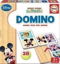 Dřevěné domino Mickey Mouse a přátelé Educa 28ks
