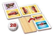 Domino a Lotto - Drevené domino Autá Educa 28 ks_0