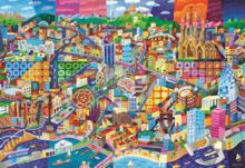 Puzzle 1500 dielne - Puzzle Barcelona, Philip Stanton Educa 1500 dielov_0