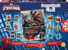 Progresívne detské puzzle - Puzzle Spiderman SuperPack 4 v 1 Educa 2x puzzle, domino, pexeso, progresívne_0