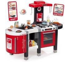 SMOBY 311203 elektronikus játékkonyha TEFAL FrenchTouch BUBBLE&VÍZ piros-szürke mágikus forrással vízzel élelmiszerekkel + 45 kiegészítő