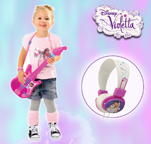 Detské hudobné nástroje - Hudobná gitara Violetta Zlatá edícia Smoby elektronická ružová_1