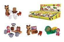BIG 57090 stavebnica PlayBIG Bloxx Máša a medveď v kuchyni, spálni, obývačke a lese 4 druhy 7-11 kusov od 18 mesiacov