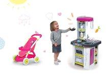 Kuchynky pre deti sety - Set kuchynka Tefal Studio BBQ Bublinky Smoby s magickým bublaním a športový kočík pre bábiku Frozen_21