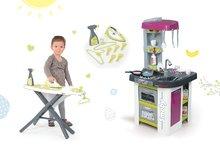 Kuchynky pre deti sety - Set kuchynka Tefal Studio BBQ Bublinky Smoby s magickým bublaním a žehliaca doska so žehličkou Clean_30
