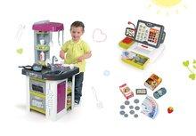 Kuchynky pre deti sety - Set kuchynka Tefal Studio BBQ Bublinky Smoby s magickým bublaním a elektronická dotyková pokladňa_28