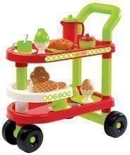 Servirni voziček z zajtrkom 100% Chef Écoiffier z rogljičkom in jajcem ter 23 dodatki od 12 mes
