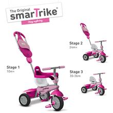smarTrike 6160200 růžovo-cyklámenová tříkolka Breeze GL 3v1 Pink Touch Steering od 10 měsíců