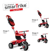 smarTrike 6160500 červeno-černá tříkolka Breeze GL 3v1 Red Touch Steering od 10 měsíců