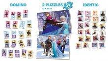 Progresívne detské puzzle - Puzzle SuperPack Frozen 4 v 1 Educa 2x puzzle, domino a pexeso, progresívne_0