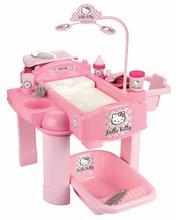 ÉCOIFFIER 2854 prebaľovací stolík pre bábiku Hello Kitty od 18 mesiacov +22 doplnkov