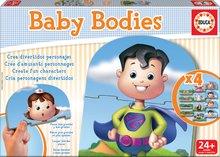 Puzzle pre najmenších - Puzzle Baby Bodies Educa 4x3 dieliky 4-obrázkové od 24 mes_1