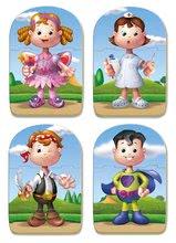 Puzzle pre najmenších - Puzzle Baby Bodies Educa 4x3 dieliky 4-obrázkové od 24 mes_0