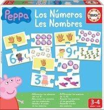 Naučná hra Učíme se Čísla Peppa Pig Educa s obrázky a počty 40 dílů