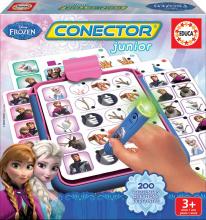 Cudzojazyčné spoločenské hry - Spoločenská hra Frozen Conector junior Educa 40 kariet a 200 otázok a inteligentné pero_1