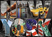 Puzzle 1000 dielne - Puzzle Genuine New York Collage Educa 1000 dielov od 12 rokov_0