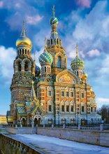 Puzzle 1000 dielne - Puzzle Genuine Church of the Resurrection of Christ, St Petersburg Educa 1000 dielov od 12 rokov_0