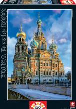 Puzzle 1000 dielne - Puzzle Genuine Church of the Resurrection of Christ, St Petersburg Educa 1000 dielov od 12 rokov_1