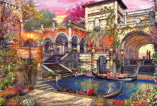 Puzzle 3000 dielne - Puzzle Genuine Venice Courtship Educa 3000 dielov od 15 rokov_0