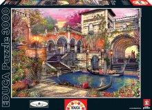 Puzzle 3000 dielne - Puzzle Genuine Venice Courtship Educa 3000 dielov od 15 rokov_1