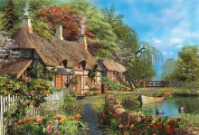 Puzzle 4000 - 8000 dielne - Puzzle Riverside Home In Bloom Educa 4000 dielov od 15 rokov_0