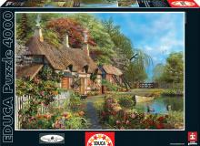 Puzzle 4000 - 8000 dielne - Puzzle Riverside Home In Bloom Educa 4000 dielov od 15 rokov_1
