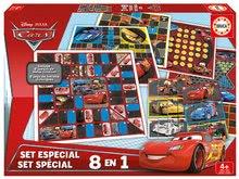 Joc de societate Cars 8in1 Special set Educa de la vârsta de 4 ani în limba engleză de la 4 ani