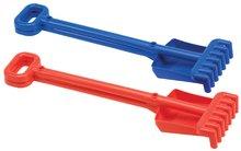Lopatky do piesku - Súprava lopatka a hrabličky Écoiffier dĺžka 52 cm, modrá od 18 mes_0