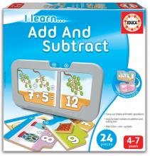 Poučna igra Učimo se seštevati in odštevati Educa 24 delčkov od 4 leta