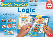 Joc de societate Conector Gândire logică Educa 242 de întrebări în limba engleză de la 4 ani