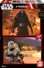 EDUCA 16521 PUZZLE CARDBOARD Star Wars VII:EL DESPERTAR DE LA FUERZA 2x100 dielikov od 5 rokov