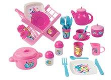 Dětská sušička nádobí My Little Pony Écoiffier s jídelní soupravou od 18 měsíců růžová