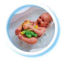 Hračky do vane - Rýchloschnúca bábika Žaba Cotoons Smoby zelená do vaničky pre kojencov_3