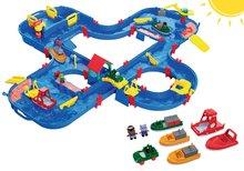 Szett vízi pálya AquaPlay AquaPlay 'n Go bőröndben és hajó és csónak szett 3-7 éves korosztálynak