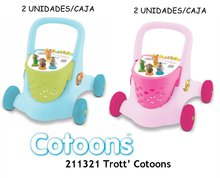 Staré položky - Vozík chodítko Cotoons Trott Smoby ružový od 12 mes_8