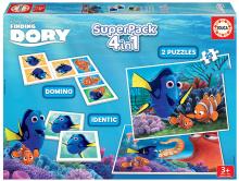 Puzzle Szenilla nyomában SuperPack 4in1 Educa progresszív 2x puzzle, dominó és párosító játék
