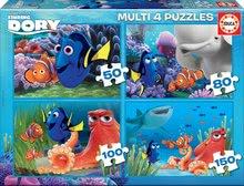 Puzzle Szenilla nyomában Educa progresszív 150-100-80-50 db 5 évtől