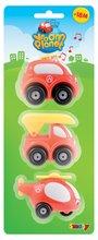 Staré položky - Sada 3 hasičských autíčok Vroom Planet Smoby elektronické dĺžka 7 cm od 12 mes_2