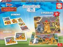 Puzzle Superpack Leví Kráľ Disney 4v1Educa puzzle, domino a pexesso