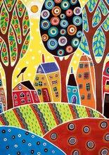 Puzzle 500 dielne - Puzzle Houses Barn Landscape, Karla Gerard Educa 500 dielov od 11 rokov_0