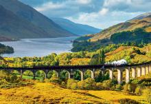 Puzzle 1000 dielne - Puzzle Genuine Glenfinnan viaduct, Scotland Educa 1000 dielov od 12 rokov_0