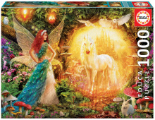 Puzzle Genuine Peacock Feather Fairy Educa 1000 de piese de la 12 ani