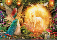 Puzzle 1000 dielne - Puzzle Genuine Peacock Feather Fairy Educa 1000 dielov od 12 rokov_0