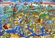 Puzzle 1000 dielne - Puzzle Genuine European world Educa 1000 dielov od 12 mes_0