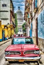 Puzzle 1000 dielne - Puzzle Genuine Vintage car in old Havana Educa 1000 dielov od 12 rokov_0