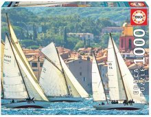 Puzzle Genuine Sailing at Saint-Tropez Educa 1000 de piese de la 12 ani