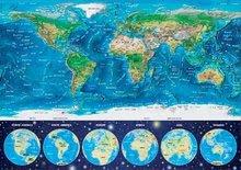 Svietiace puzzle  - Puzzle Neon Series, Neon World map Educa 1000 dielov od 12 rokov_0