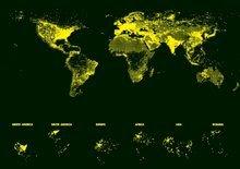 Svietiace puzzle  - Puzzle Neon Series, Neon World map Educa 1000 dielov od 12 rokov_1