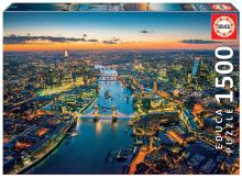 Puzzle Genuine Letecký pohled na Londýn Educa 1 500 dílů